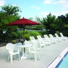 Grosfillex Miami Lounge Chairs by Bahia Chaise White