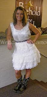 Lace And Tulle SHORT Wedding Dress Country Or Rustic