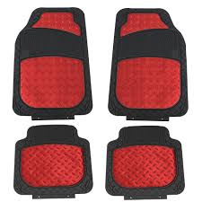 100 Heavy Duty Truck Floor Mats Details About Metallic Rubber For Car SUV Semi Trimmable Red