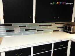 faux tile painted backsplash using chalky finish paint tile painting