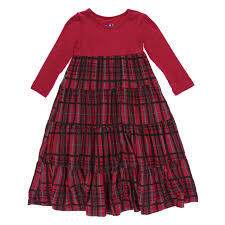 KicKee Pants Little Girls Holiday Long Sleeve Tiered Dress