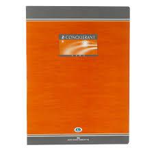 Conquérant Sept Cahier Brochure 96 Pages 24 X 32 Cm Grands Carreaux