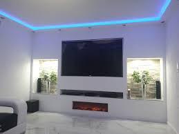 deigner tv wand mit reibeputz wohnzimmer ideen wohnung