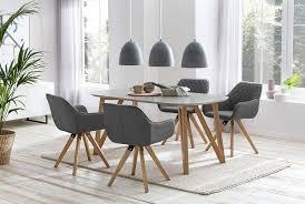 esszimmer essgruppe mit 4 stühlen esstisch komplettset weiß eiche anthrazit
