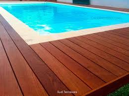 margelle piscine en bois coffrage de piscine en ipe sud terrasses