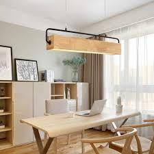 japan holz led anhänger leuchte moderne metall stange hängen