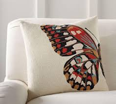 Butterfly Crewel Cushion Cover | Pottery Barn AU Pottery Barn Slate Blue Throw Pillows Miscellaneous From Alex S On And Throws Clearance Sale Tips Ideas Pillow Catstudio Target Seasonal Pillows For A Fraction Of The Price Thrifty Decor Chick Living Room Charcoalgreypillows Thumb Decorative For Christmas Would Love To Have All These On V Side Master Bedroom Makeover Breakdown Dont Disturb This Groove Simple Holiday Decorating Daybeds Wonderful Daybed Cover Sets Mattress Budget Archives Page 2 3 The Happy Housie Hammers And High Heels My Easy Yearround Update Summer