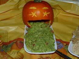 Picture Of Pumpkin Throwing Up Guacamole by Bloody Brains And Puking Pumpkins Lady Melady My Castle My Food