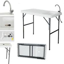 Fish Cleaning Station With Sink by Zimtown Folding Portable Fish Table Fish Cleaning Hunting