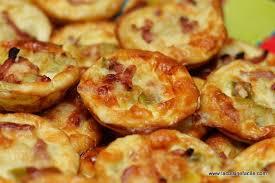 mini quiche pate feuilletee mini quiche aux lardons et fondue de poireaux lacuisinefacile