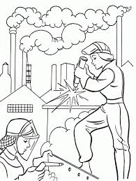 Free Labor Day Coloring Pages Kids