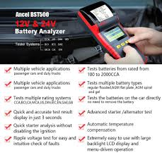 100 Heavy Duty Truck Battery Detail Feedback Questions About Ancel BST500 12V 24V Car