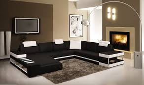 idee deco salon canape noir canap noir et blanc design canap duangle panoramique