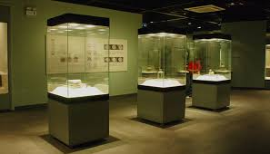 4 Glass Sides Freestanding Case Museum
