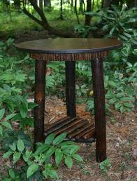 Rustic Furniture Mountain Modern Refined Round Table Hickory Lodge