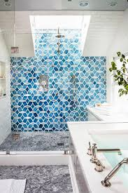 great blue shower tile with home interior design ideas with blue