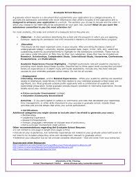 College Grad Resume Graduate School Admissions Sample