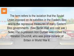 Who Coined The Iron Curtain by What Is Referenced By The Term Iron Curtain Youtube