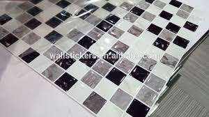 12x12 square black white grey 3d gel mosaic tile peel and stick