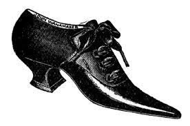 Vintage Clip Art Ladies Shoes And Boots
