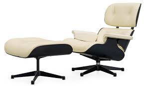 A Charles & Ray Eames White Leather