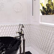 Mosaic Tile Chantilly Virginia by Buy Pearl Ribbon Carrara White Marble And Shell Waterjet Mosaic