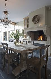 Wonderful Salvaged Wood Dining Table Design Ideas Within Gray Ordinary