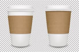 Vector Realistic Blank Paper Coffee Cup Set Isolated EPS10 Art Illustration