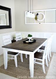 Dining Tables Astounding Black Rectangle Rustic Wooden Diy Table Stained Ideas Top