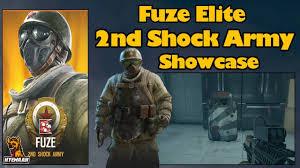 siege army fuze elite 2nd shock army showcase rainbow six siege white noise