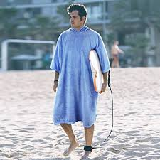 Adults Hooded Surf Changing Poncho Absorbent Beach Towel Wearable Robe For Women Men Swimming Surfing