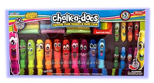 Chalk-A-Doos Pavement Sidewalk Chalk Holders & Refill Chalks 53 ...