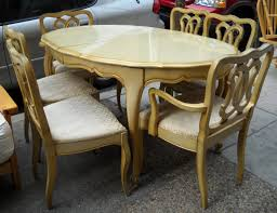 French Dining Room Sets by Beautiful High Gloss Finished Creamy Oak Wood French Provincial