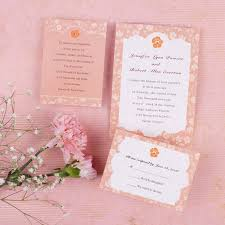 Discount Elegant Pink Floral Wedding Invitations With Free Response Cards