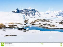 100 Antarctica House Wordi Mountains Stream And Snow Stock Image Image Of