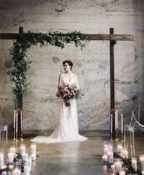 Rustic Indoor Wedding Ceremony