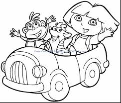 Astounding Dora And Friends Coloring Pages Printable With Best Friend Two