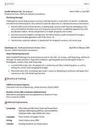 Example Resume Marketing Manager 1a