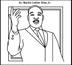 Mlk Coloring Pages Digital Art Gallery Martin Luther King Jr