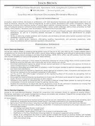 Electrical Engineering Resume Samples Of