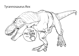 Tyrannosaurus Rex Realistic Coloring Pages For Kids Printable Free