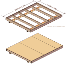 Floor Joist Span Table For Sheds by How To Build A Storage Shed The Floor And Wall Frames