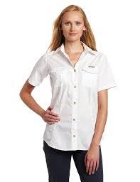 amazon com columbia women u0027s bonehead short sleeve shirt button