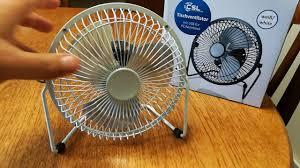 Oscillating Usb Desk Fan by Csl Usb Desk Fan Youtube