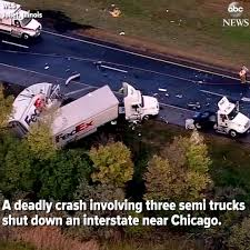 100 Truck Accident Chicago ABC News Fatal Crash Involving Three Semi Trucks In Illinois