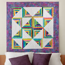 Craftdrawer Crafts Free Country Log Cabin Quilting Pattern