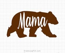 Mama Bear SVG Clip Art