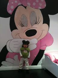 Minnie Mouse Room Decorations Walmart by Minnie Mouse Mural Makes Small Rooms Bigger Wall Murals