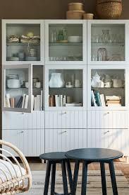 bestå vitrine weiß lappviken klarglas weiß 60x42x193 cm