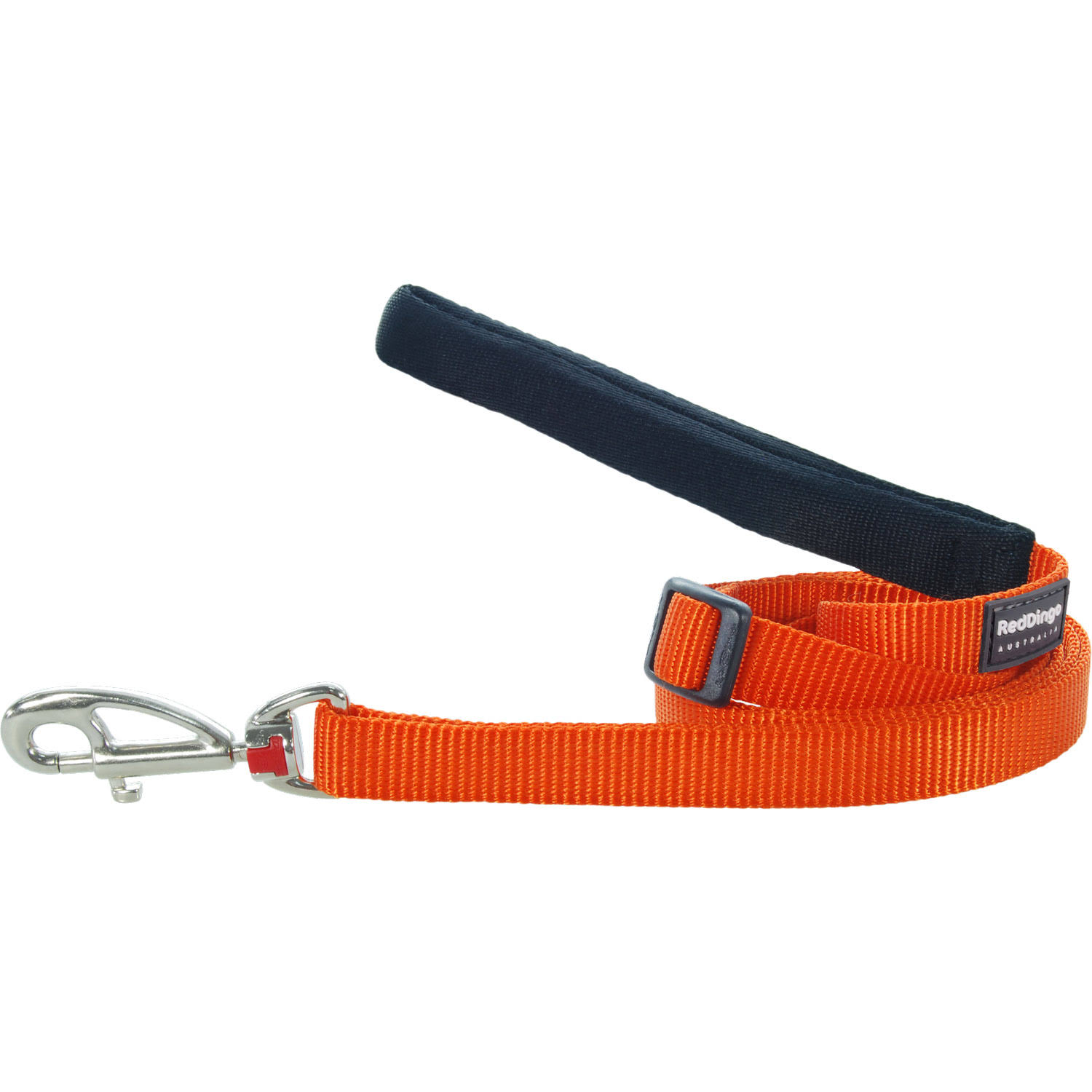 Red Dingo Classic Adjustable Dog Leash, Orange, Medium